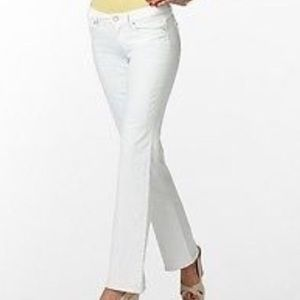 EUC Lilly Pulitzer Babe Boot Cut White Jeans 4